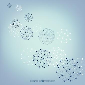 Balle sphères structure de vecteur