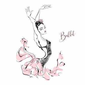 Ballerine. danseur. ballet. carmen