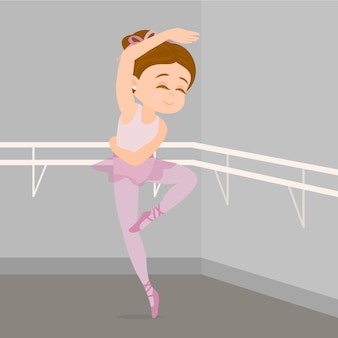 Ballerine pratiquant la danse classique