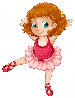 Un ballet fille grassouillet