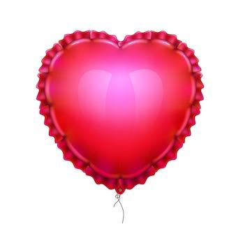 Ballon à air réaliste en forme de coeur élégant
