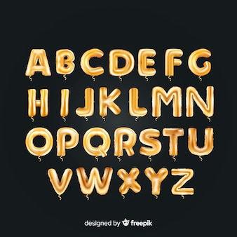 Ballon d'alphabet d'or
