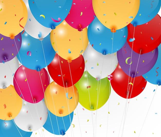 Ballon d'anniversaire coloré