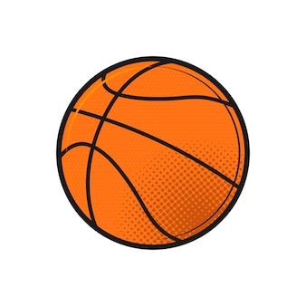 Ballon de basket sur blanc