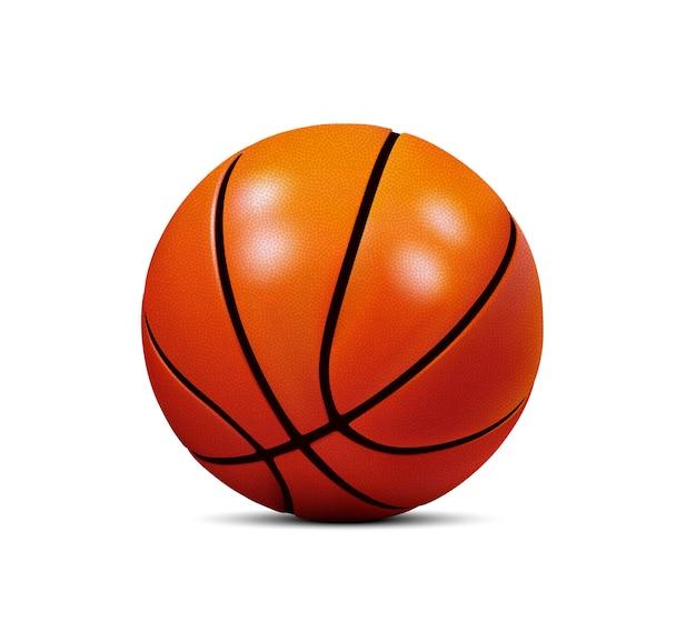 Ballon de basket isolé sur fond blanc.