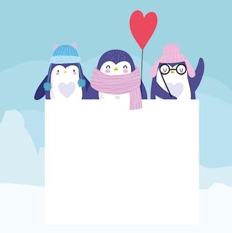 Ballon chapeau écharpe pingouins