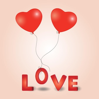Ballon coeur saint valentin.