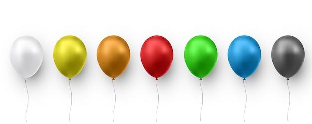 Ballon de couleur brillant réaliste.