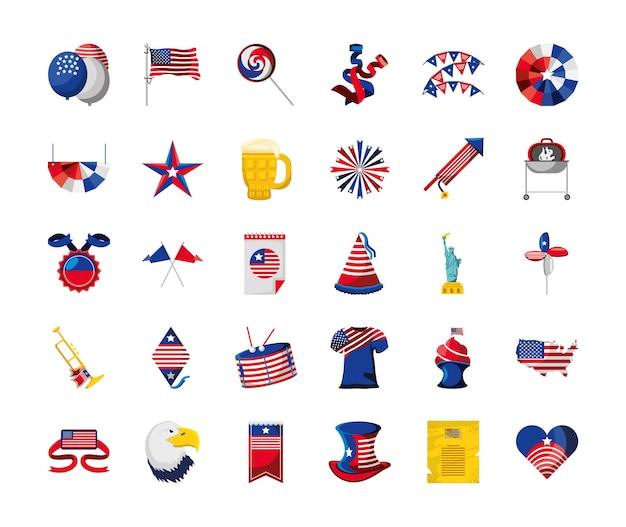 Ballon drapeau américain du 4 juillet