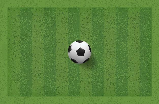 Ballon de foot dans l'herbe.
