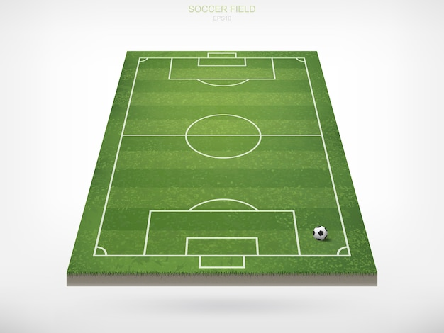 Ballon de foot sur le terrain de foot.