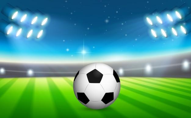 Un ballon de foot sur le terrain