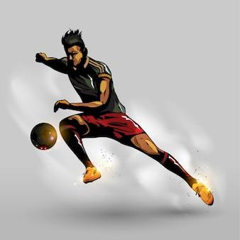 Ballon de football abstrait