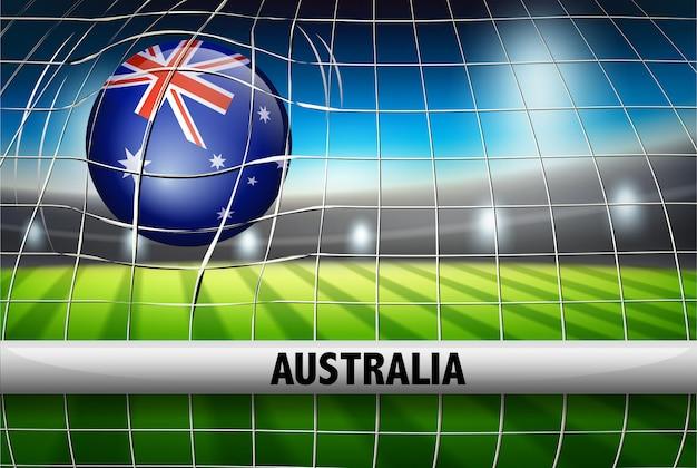 Ballon de football australien en filet