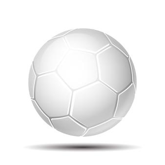 Ballon de football blanc en cuir. ballon de soccer isolé sur fond blanc