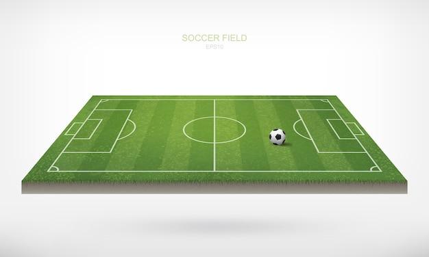 Ballon de football dans le terrain de football.