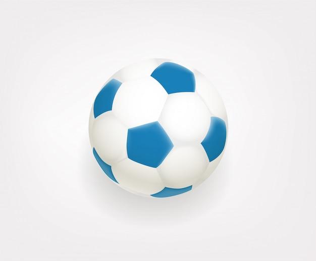 Ballon de football emoji isolé sur fond blanc