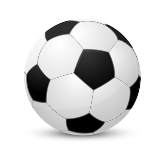 Ballon de football. isolé sur blanc