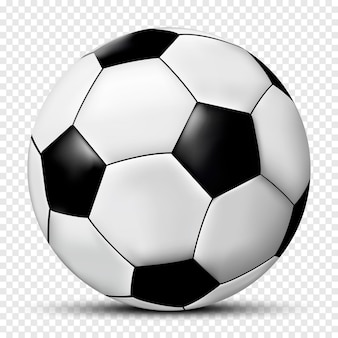 Ballon de football ou de soccer isolé sur fond transparent