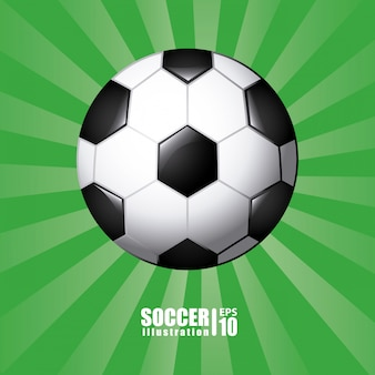 Ballon de football en vert