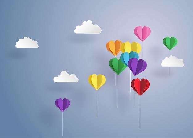 Ballon en forme de coeur.