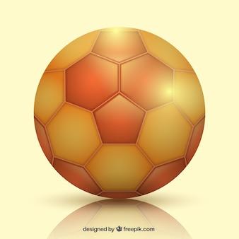 Ballon de handball dans un style réaliste