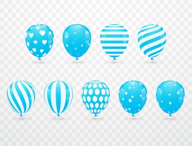 Ballon à l'hélium bleu virtuel image vectorielle