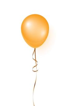 Ballon d'hélium orange réaliste de vecteur