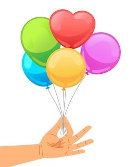Ballon, main humaine