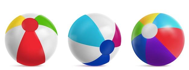 Ballon de plage gonflable, ballon à air rayé
