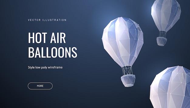 Ballon polygonal. concept de vol, voyage ou aventure