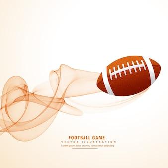 Ballon de rugby avec effet abstrait de lignes ondulées