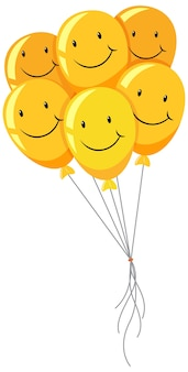 Ballon smiley heureux jaune