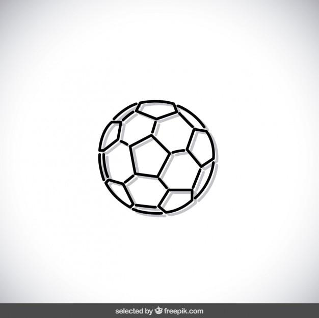 Ballon de soccer indiqué