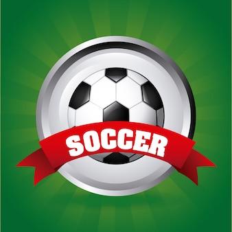 Ballon de soccer avec ruban