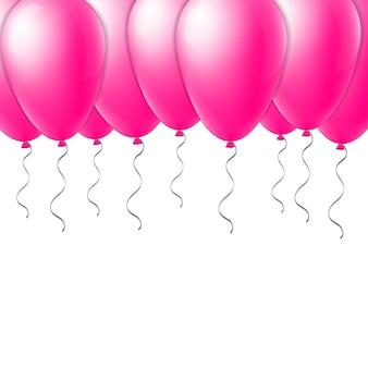 Ballon de vol créatif abstrait avec ruban.