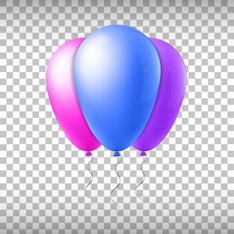 Ballon de vol de vecteur de concept créatif abstrait avec ruban. pour les applications web et mobiles isolées sur le fond, conception de modèle art illustration, icône de médias sociaux et infographie entreprise