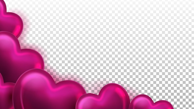 Ballons à air dans le vecteur de décoration en forme de coeur