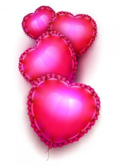 Ballons à air réalistes en forme de coeur élégant