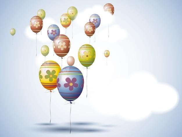 Ballons background dessig