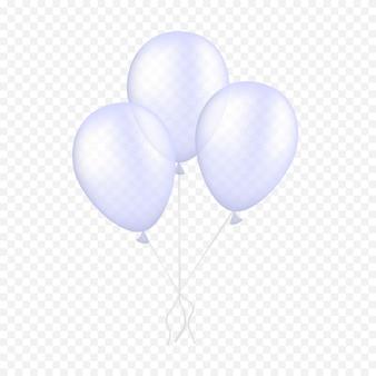 Ballons blancs flottant