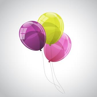 Ballons brillants couleur fond vector illustration eps10