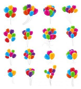 Ballons brillants de couleur
