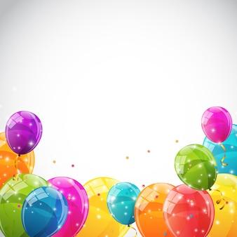 Ballons brillants de couleur