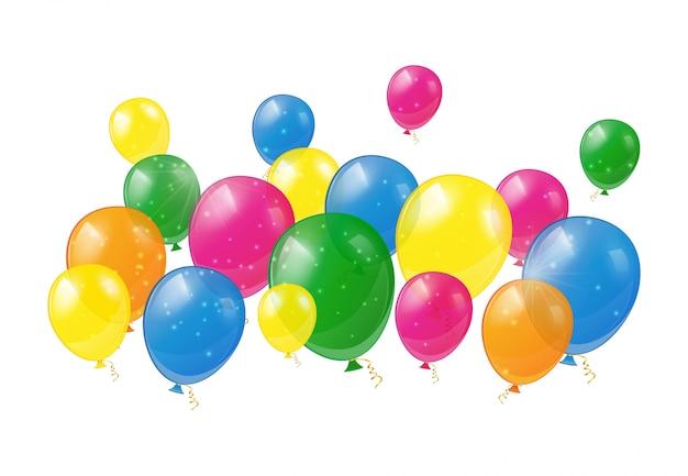 Ballons brillants isolés
