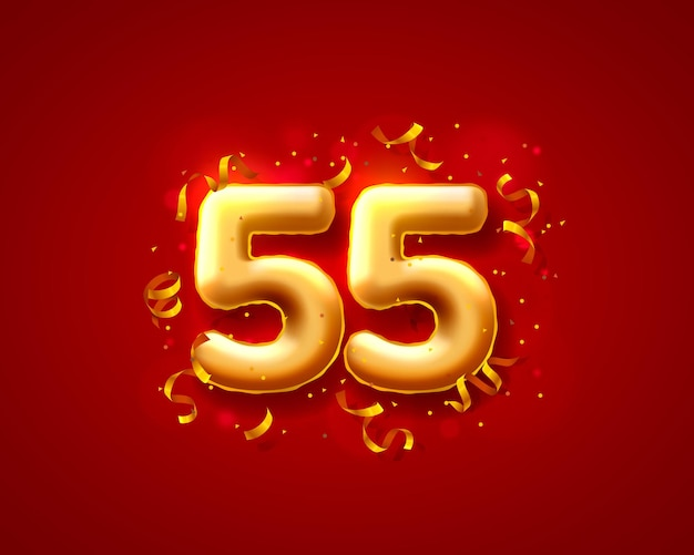 Ballons de cérémonie festive, 55e ballons numéros.