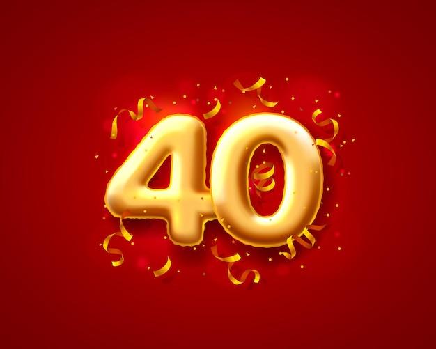 Ballons de cérémonie festive, ballons de 40e numéros.