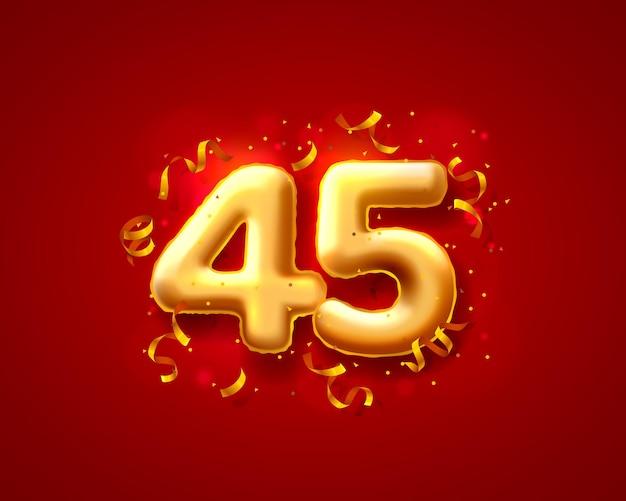 Ballons de cérémonie festive, ballons de 45e numéros.