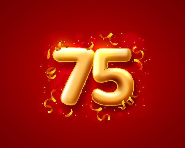 Ballons de cérémonie festive, ballons du 75e numéro.