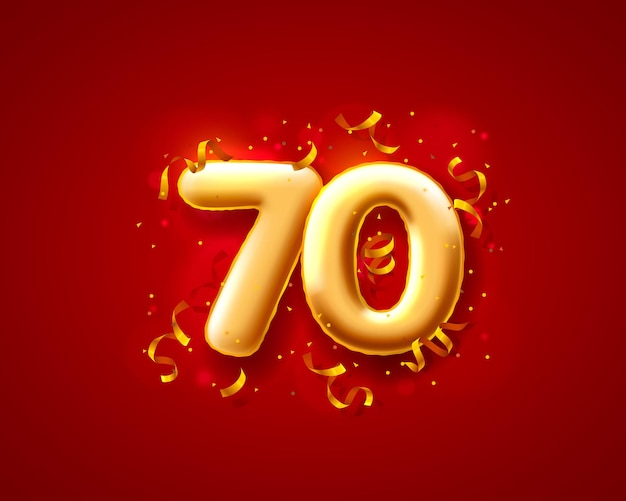 Ballons de cérémonie festive, ballons numéros 70e.